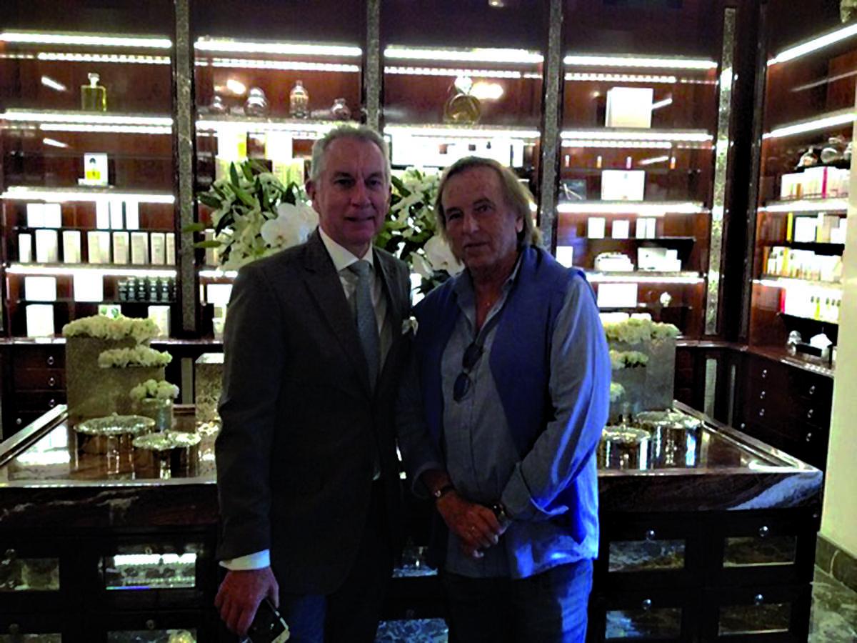 Le DG du Royal Mansour Jean-Claude Messant, et le réalisateur Alexandre Arcady