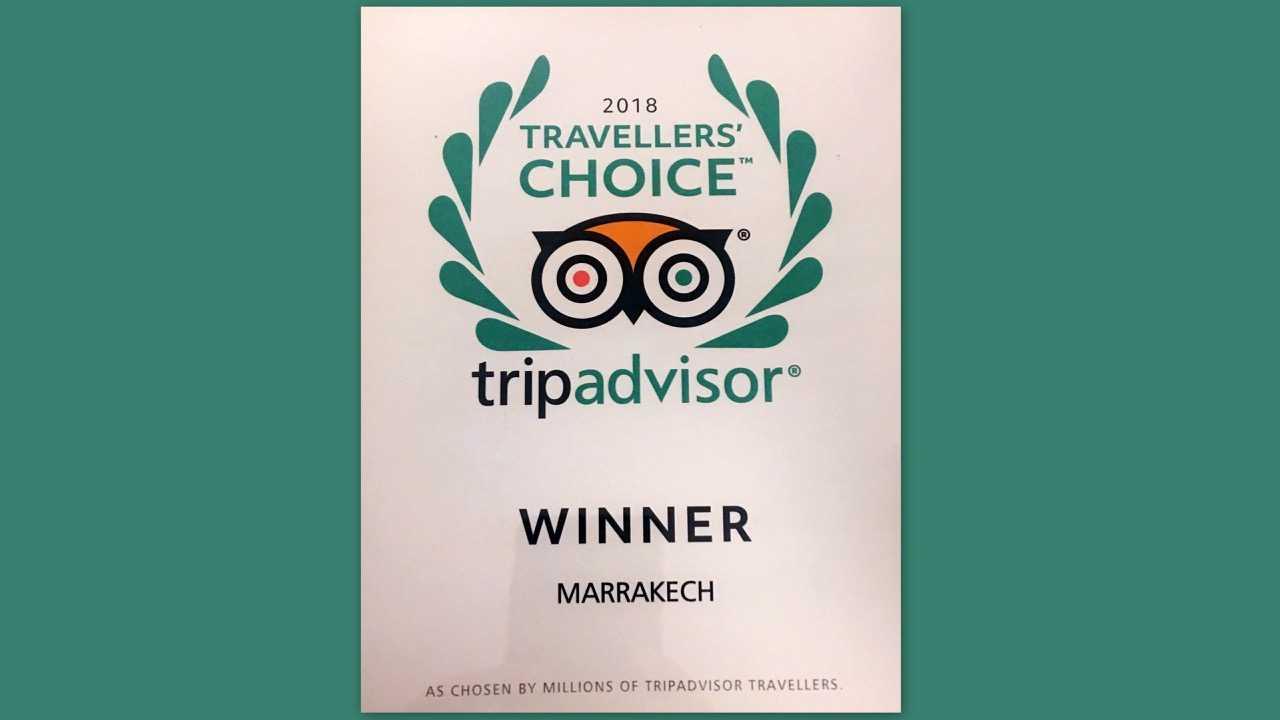 "Marrakech distinguée ""TripAdvisor 2018"""