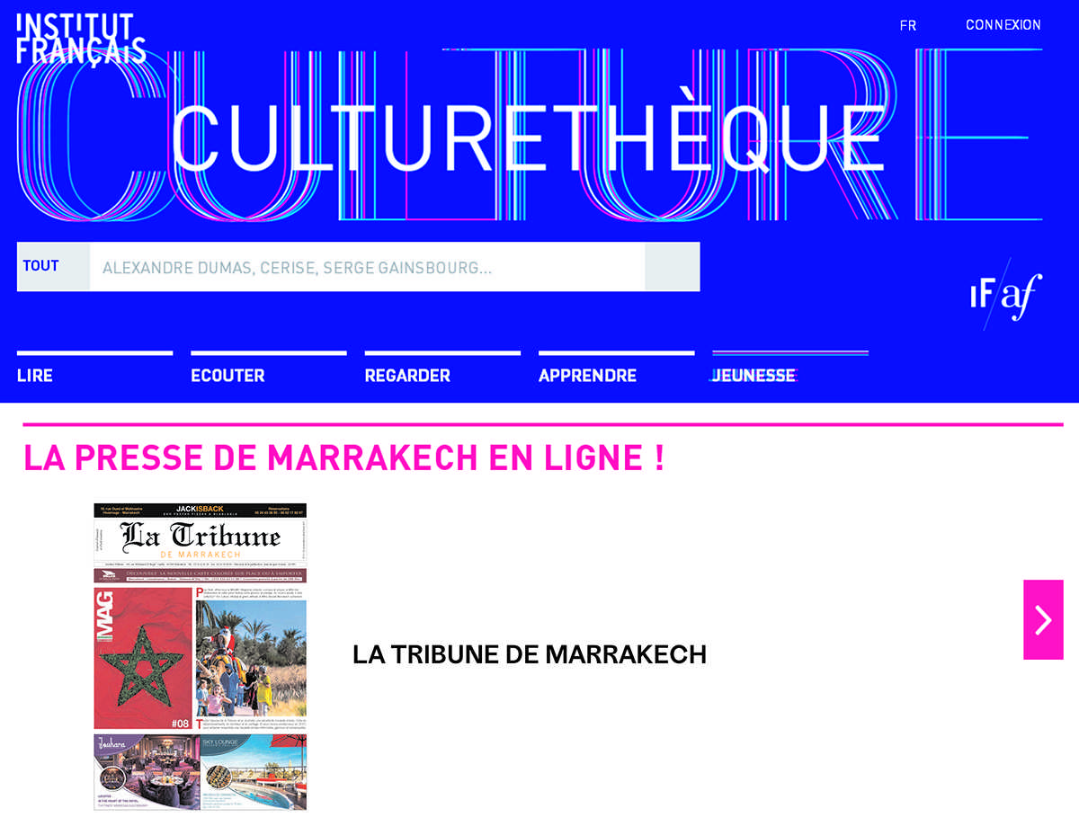 La Tribune en ligne sur la Culturethèque de l'Institut français